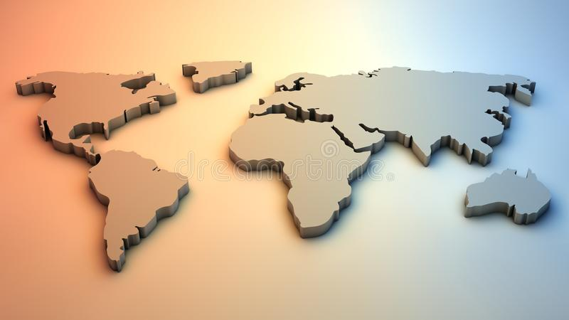 Download 3D World Map stock illustration. Image of africa, backgrounds - 34049683