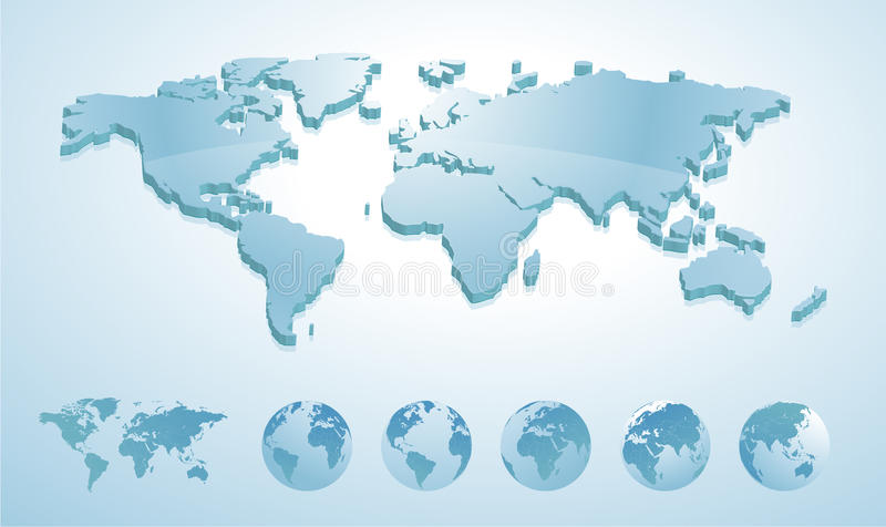 3d world map illustration with earth globes showing all continents download 3d world map illustration with earth globes showing all continents stock vector illustration of gumiabroncs Images