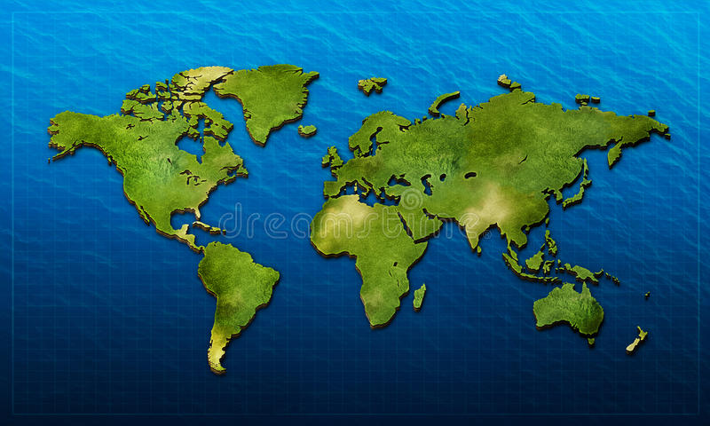 Download 3D World Map Stock Image - Image: 33119631