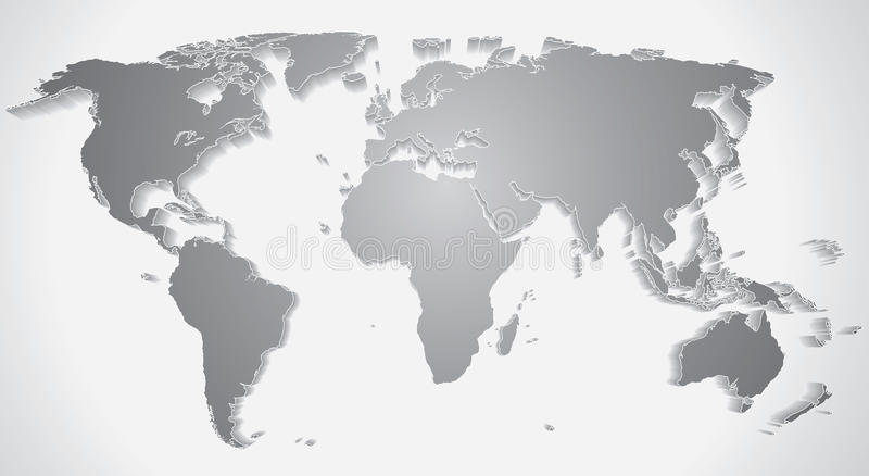 3d world map silhouette vector graphics stock vector download 3d world map silhouette vector graphics stock vector illustration of concept graphic gumiabroncs