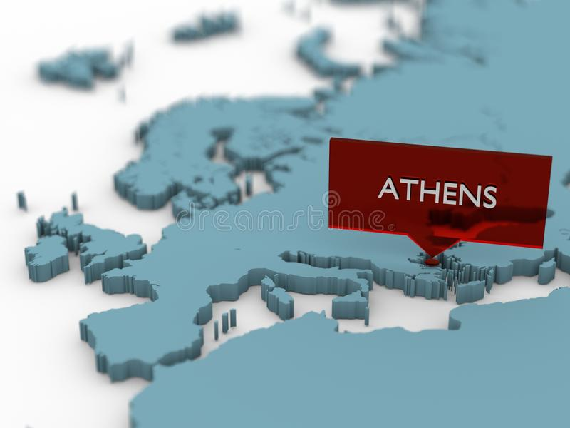 3d world map sticker athens stock illustration illustration of 3d world map sticker athens gumiabroncs
