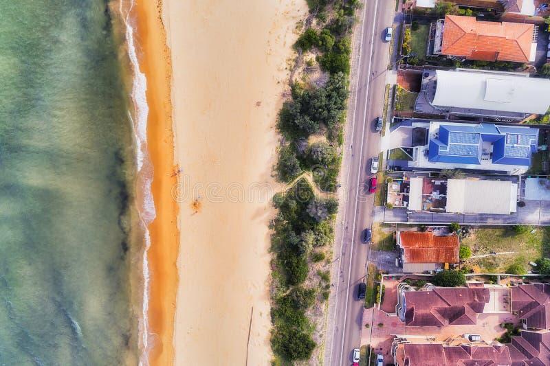 D WOy Umina Short Beach Top Down stock afbeeldingen