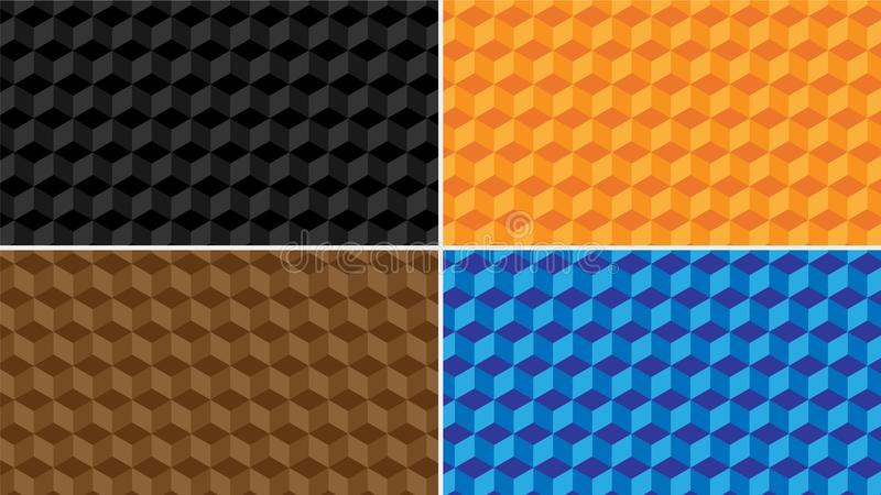 ` 3D ` wysokiej jakości Wektorowy wzór z różnymi kolorami zdjęcie stock