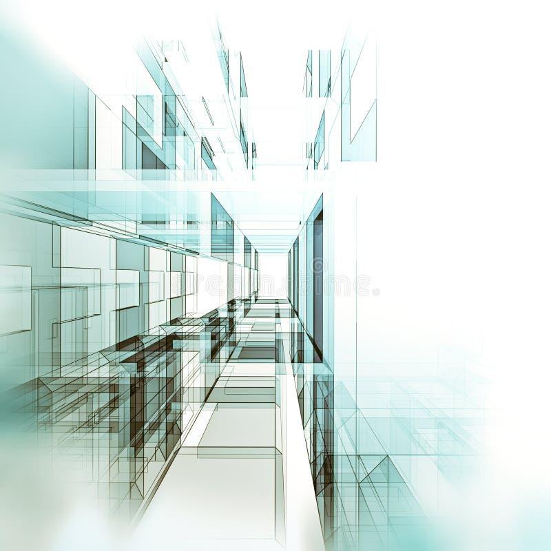 3d wysokość odpłaca się postanowienia technologii tunel ilustracja wektor