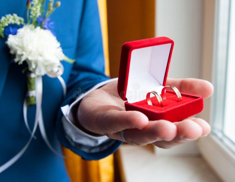 3d wytwarzał ringowego wizerunku ślub zdjęcie royalty free