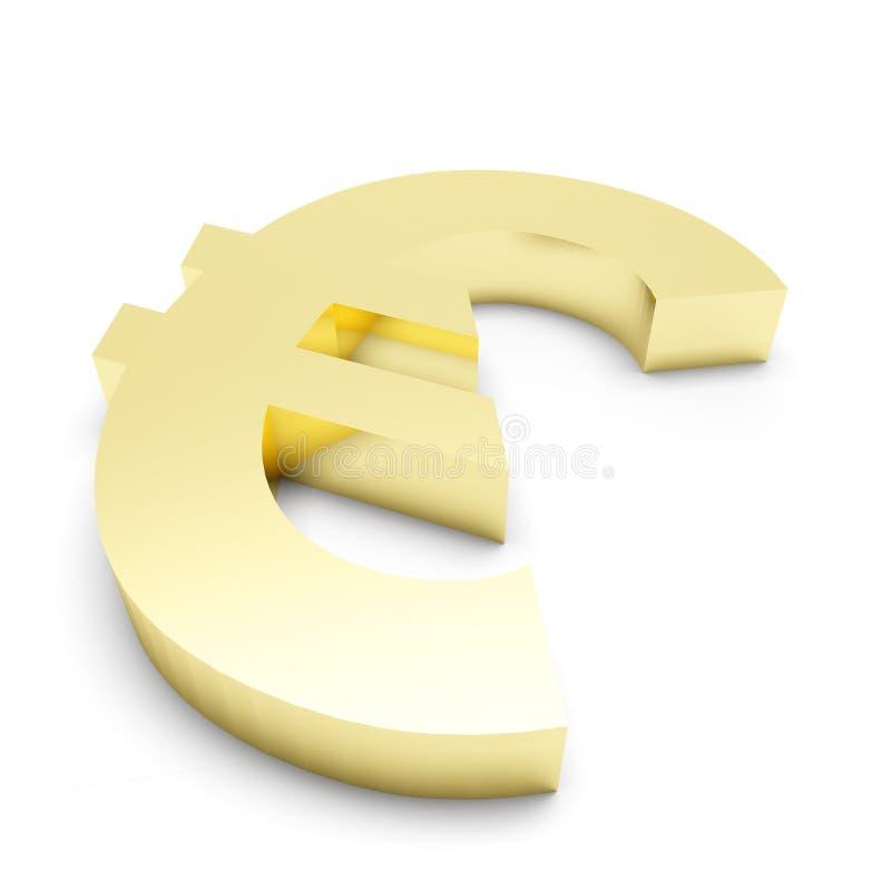 3D Złocisty Euro Mark zdjęcia royalty free