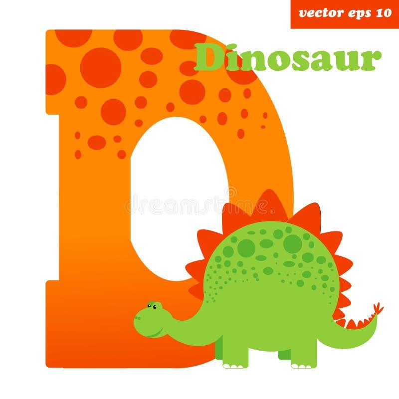 D z dinosaurem royalty ilustracja