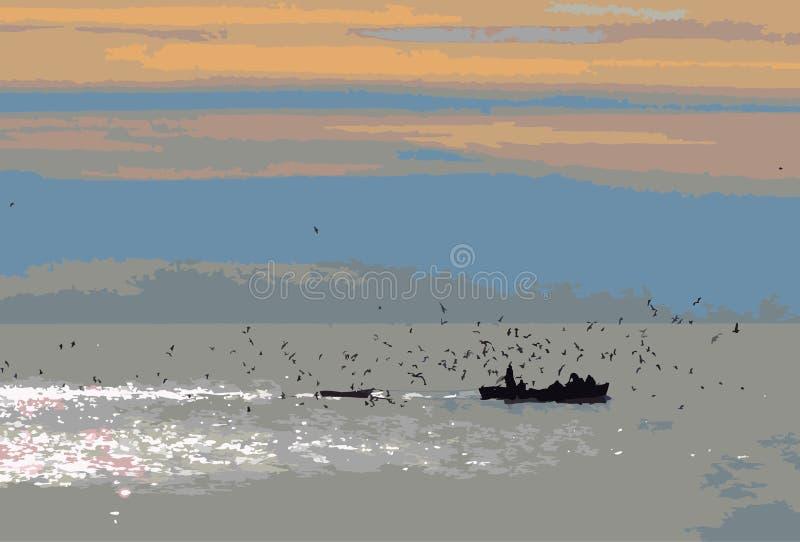 ??d? z rybakami obrazy royalty free