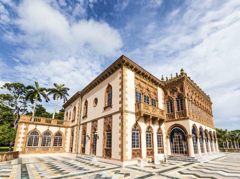 d'Zan的加州是塑造一部分一栋精心制作的威尼斯式式别墅af 图库摄影