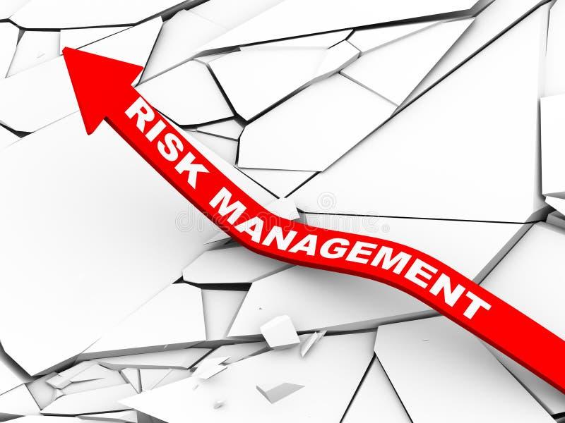 3d zarządzania ryzykiem powstająca strzała ilustracji