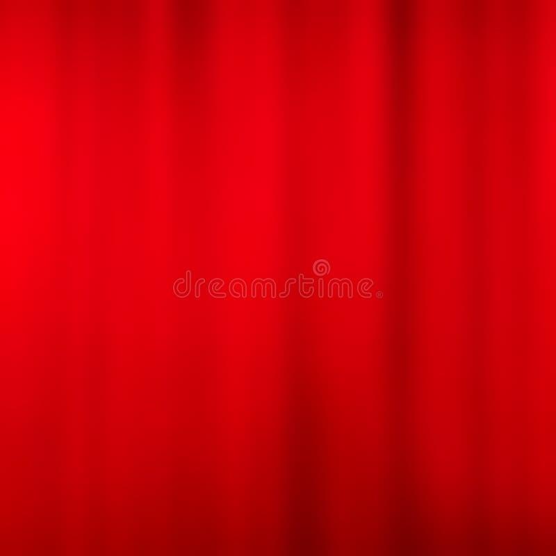 3d zasłony skutka czerwieni aksamit royalty ilustracja