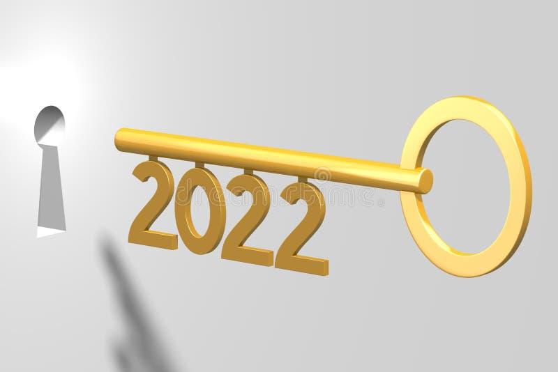 3D zeer belangrijk concept - 2022 vector illustratie