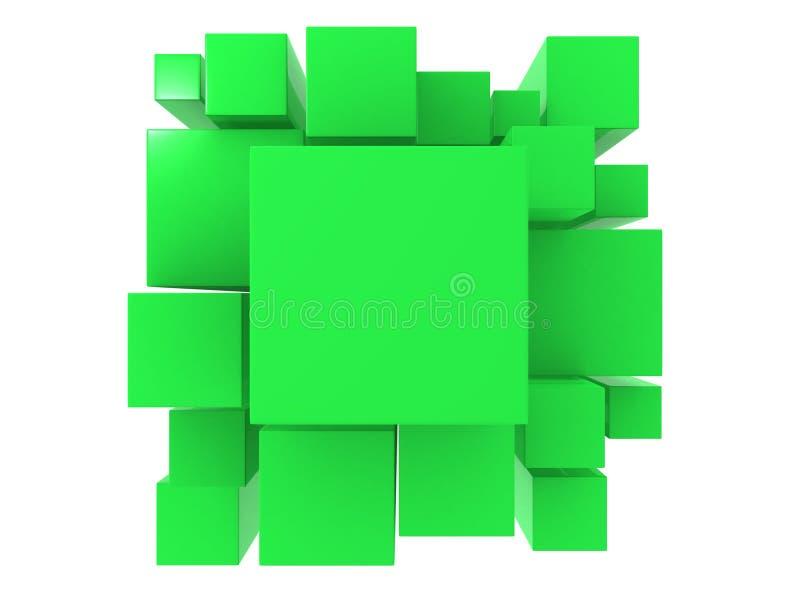 3d zieleni abstrakta tło ilustracji