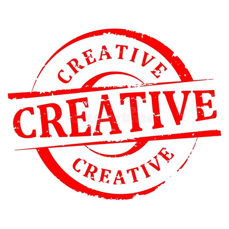 Dañado alrededor del sello con la inscripción - creativa - vector ilustración del vector