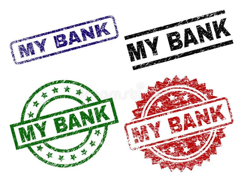 Dañado texturizado MIS sellos del sello de BANCO libre illustration
