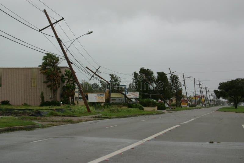 Daño de Gustavo del huracán fotografía de archivo
