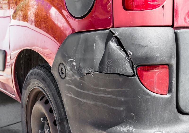 Daño de la carrocería foto de archivo