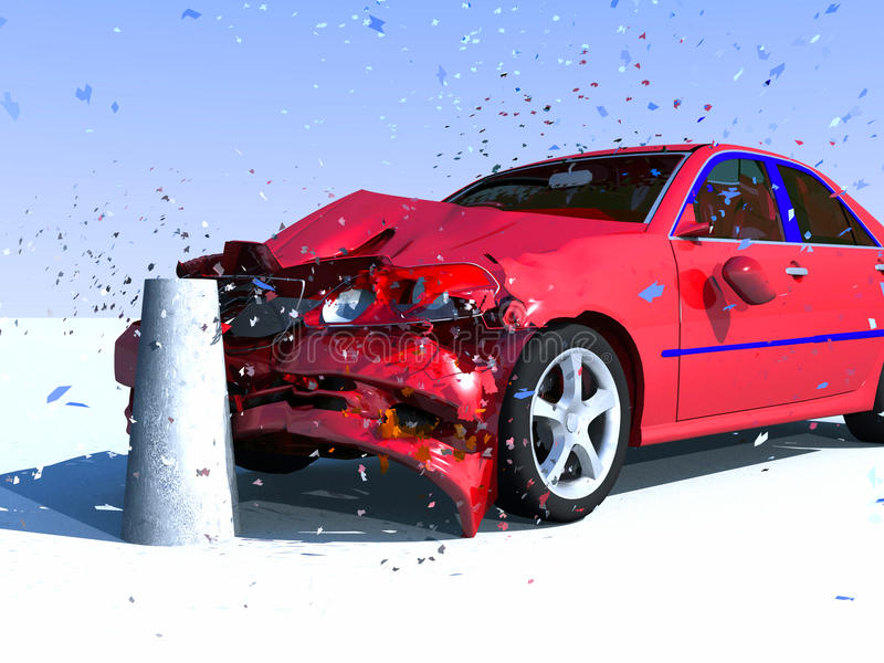 Daño del coche stock de ilustración