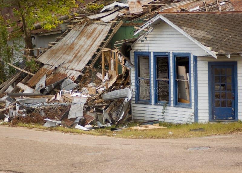Daño del huracán foto de archivo libre de regalías