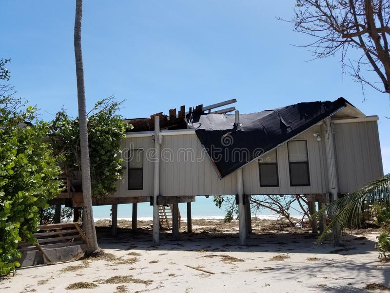 Daño del huracán imagen de archivo libre de regalías