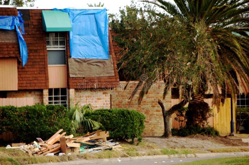 Daño del huracán fotografía de archivo libre de regalías