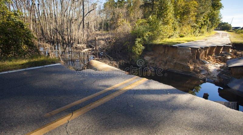Daño del huracán Matthew fotografía de archivo
