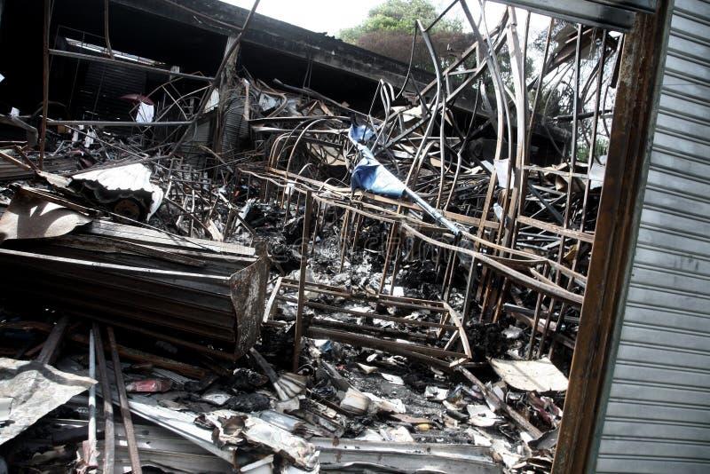 Daño del tsunami imágenes de archivo libres de regalías