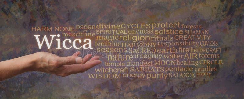 Daño ningunos nube de la etiqueta de la palabra de Wicca foto de archivo