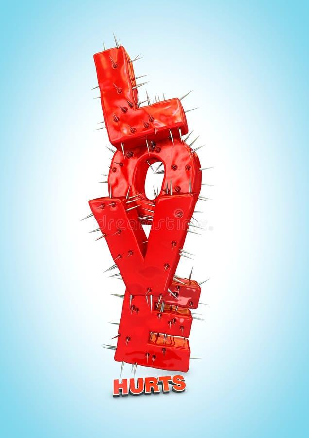 Daños del amor ilustración del vector