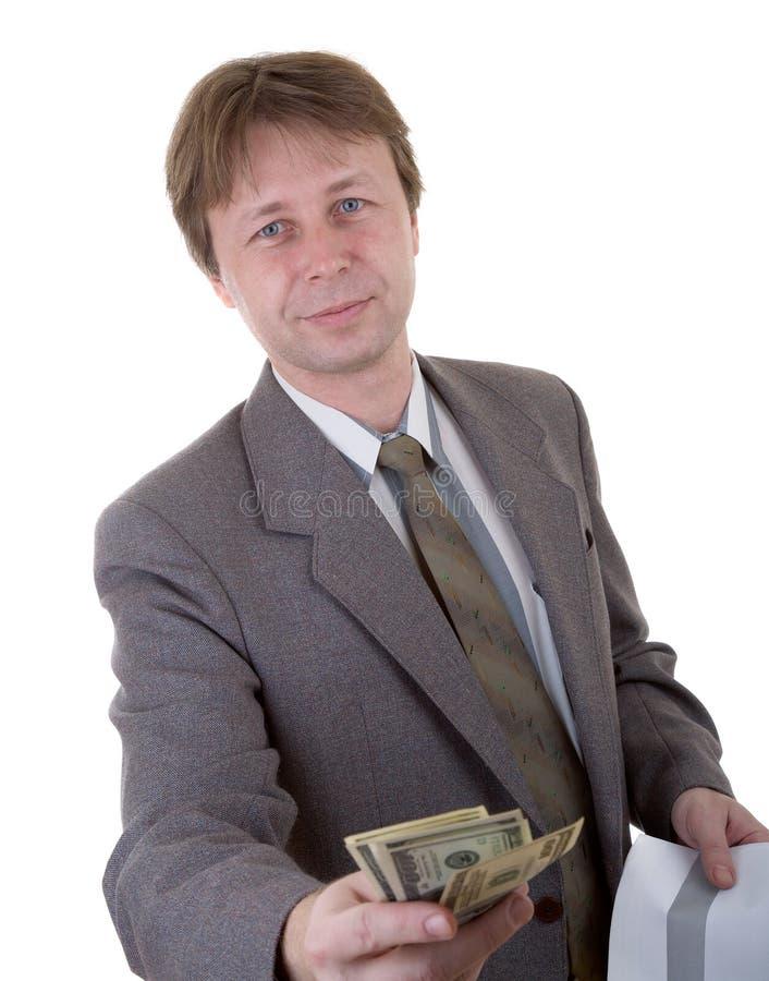 dać pieniądze obrazy stock