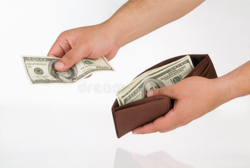 dać trochę pieniędzy obrazy stock