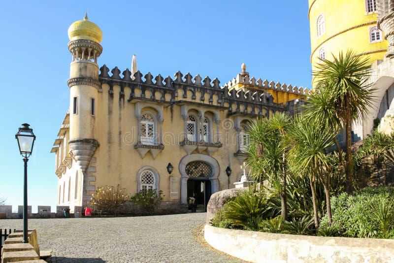 Da贝纳宫殿。辛特拉。葡萄牙 免版税库存照片