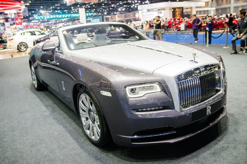 ` Da aparição do ` de Rolls Royce na cor da branco-prata no motorshow 2018 de Banguecoque imagens de stock