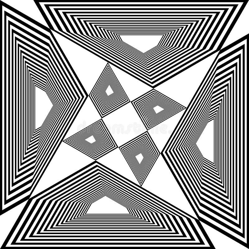 Da arquitetura da cidade pseudo- do tridimensional do Arabesque ilusão aérea da perspectiva no fundo transparente 3 ilustração royalty free