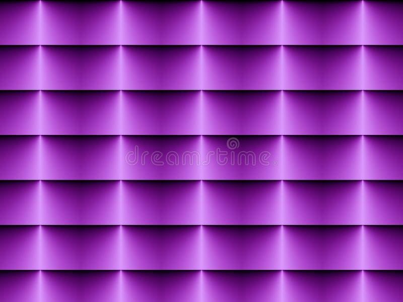 Da arte Op das cortinas violeta horizontal brandamente ilustração royalty free
