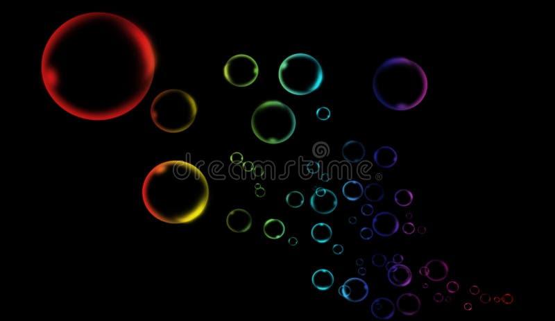 Da bolha limpa da água da qualidade do arco-íris fundo líquido para fundos modernos, disposições do folheto, projeto do inseto, m ilustração stock