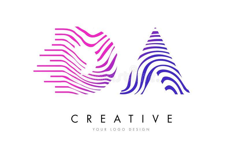 DA D Ein Zebra Zeichnet Buchstaben Logo Design Mit Magentaroten ...
