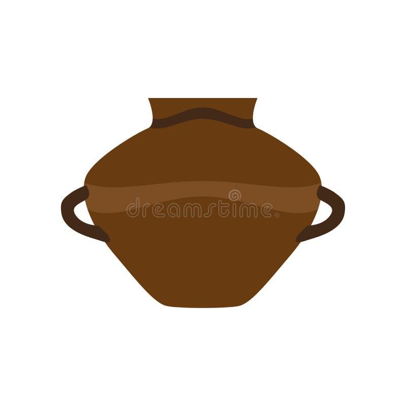 Da decoração antiga antiga cerâmica do frasco dos desenhos animados da ilustração do vaso do vetor da argila de potenciômetro da  ilustração royalty free