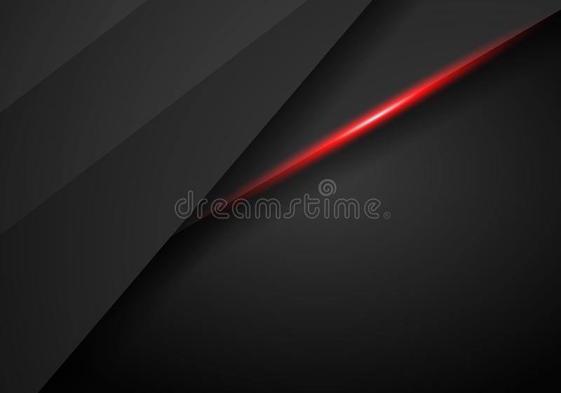 Da disposição preta vermelha metálica do quadro do sumário fundo moderno do molde do projeto da tecnologia, preto e fundo vermelh ilustração royalty free