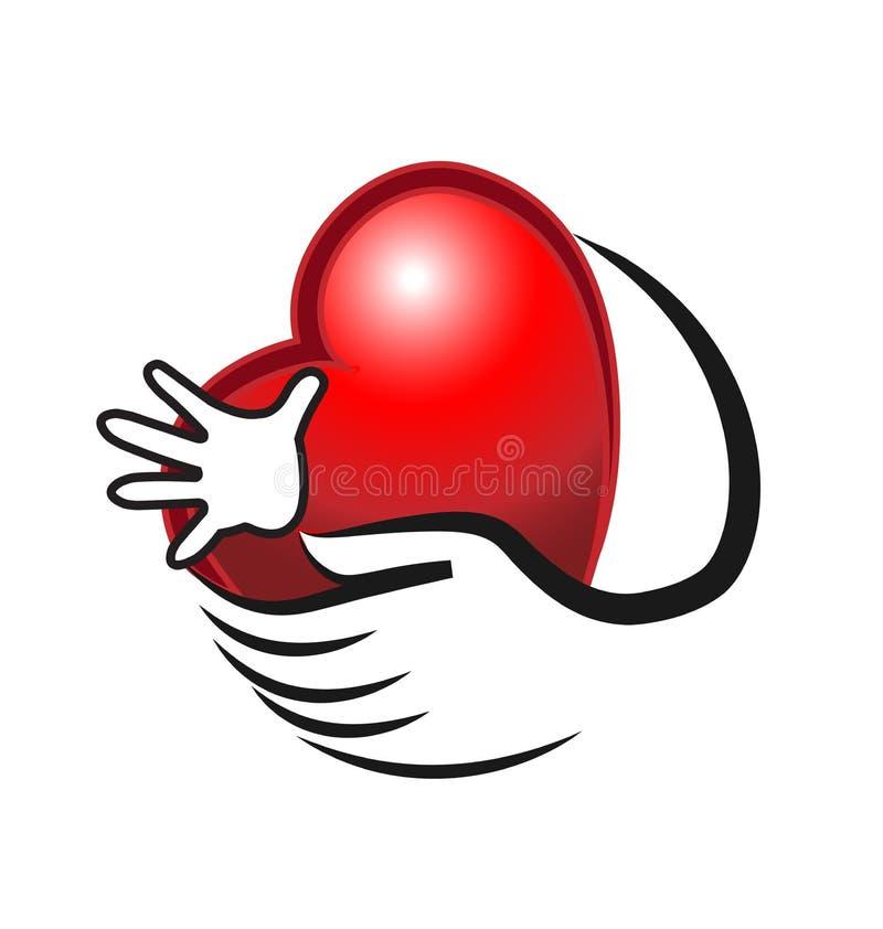 Da el concepto de logotipo del amor stock de ilustración