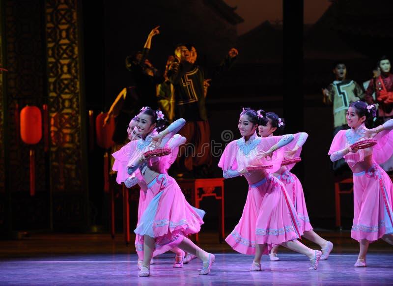 Da empregada doméstica- o ato cor-de-rosa primeiramente de eventos do drama-Shawan da dança do passado foto de stock