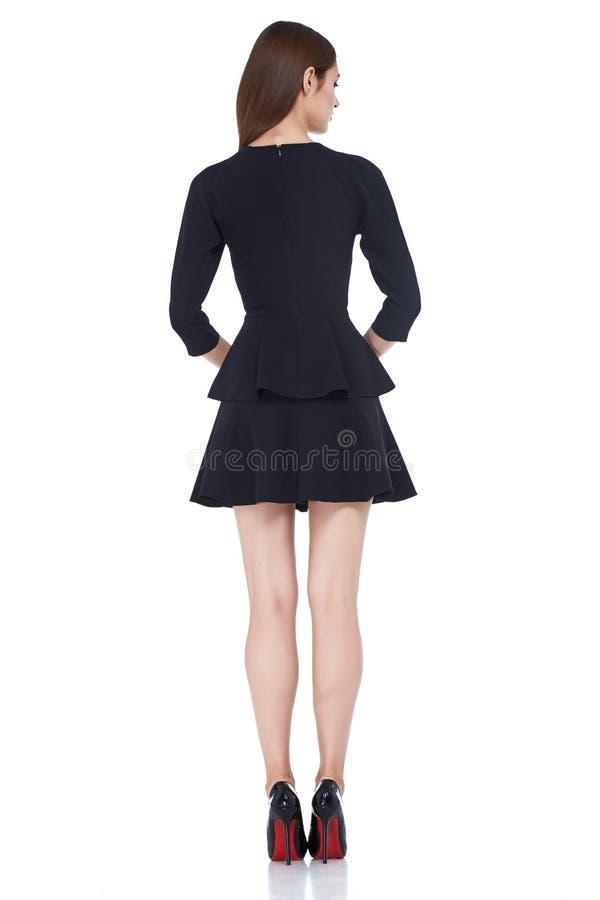 Da forma perfeita do corpo da mulher do estilo da forma preto moreno do desgaste do cabelo imagem de stock royalty free
