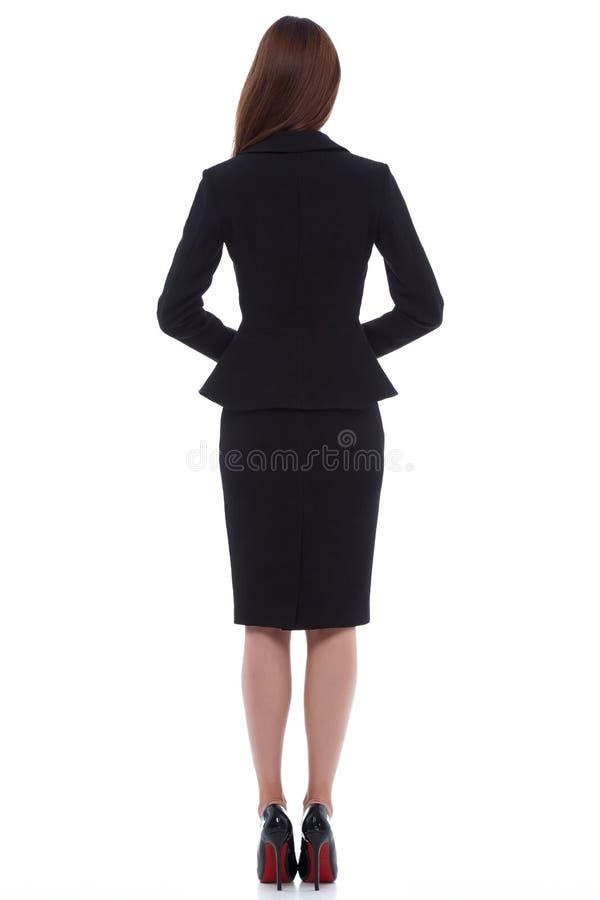 Da forma perfeita do corpo da mulher do estilo da forma preto moreno do desgaste do cabelo fotografia de stock