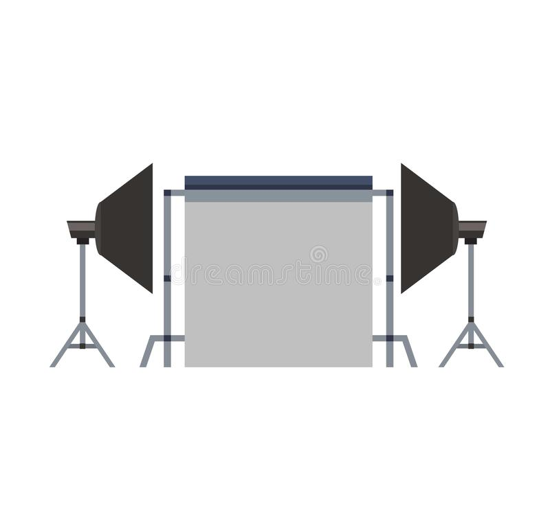 Da fotografia instantânea da velocidade da câmera vetor branco do equipamento ilustração royalty free
