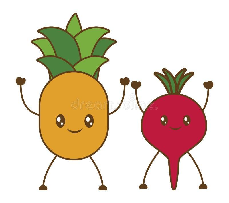 Da fruto el icono de la historieta libre illustration