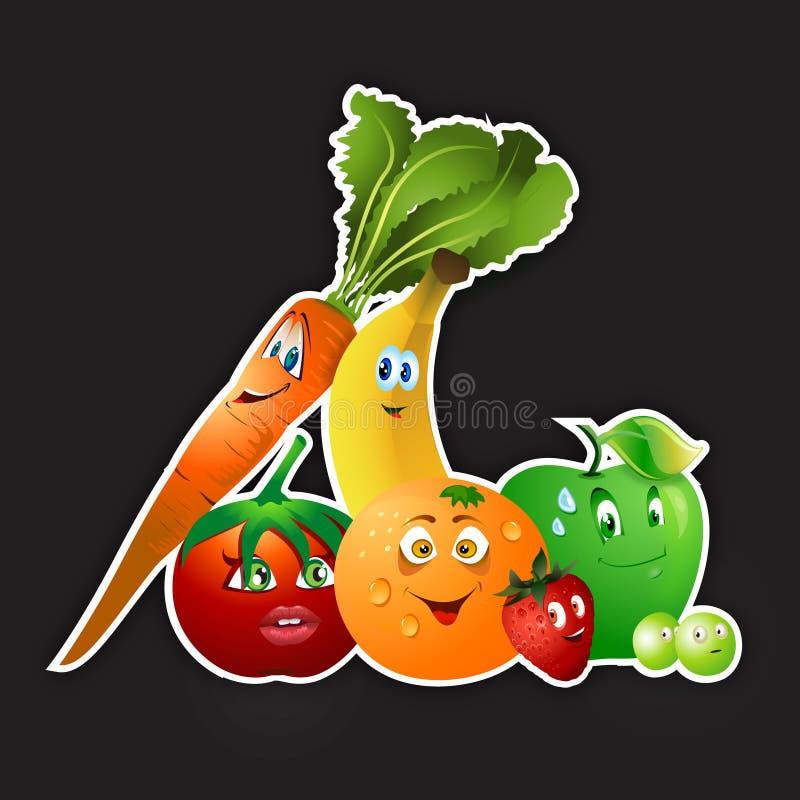 Da fruto la colección de los veggies stock de ilustración