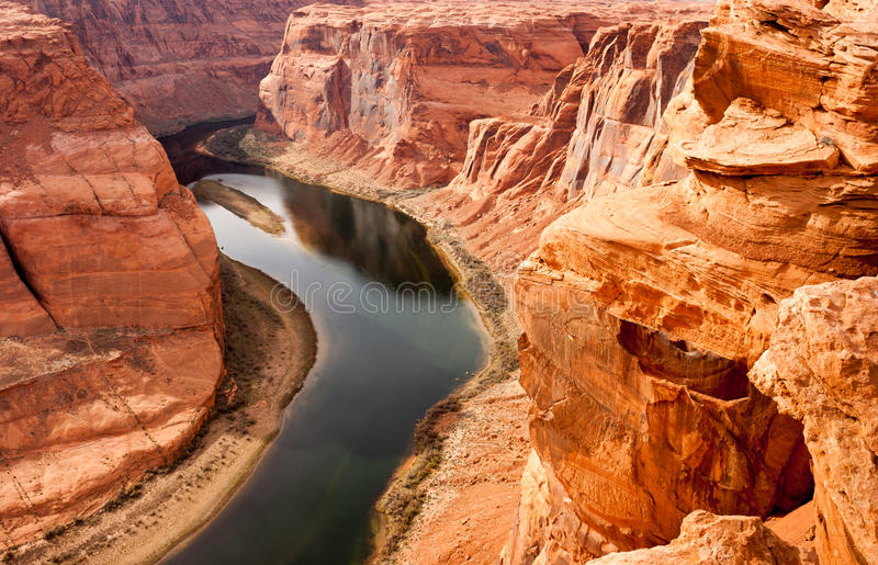 Da garganta do Rio Colorado do deserto terras cênicos naturais profundas a sudoeste foto de stock royalty free