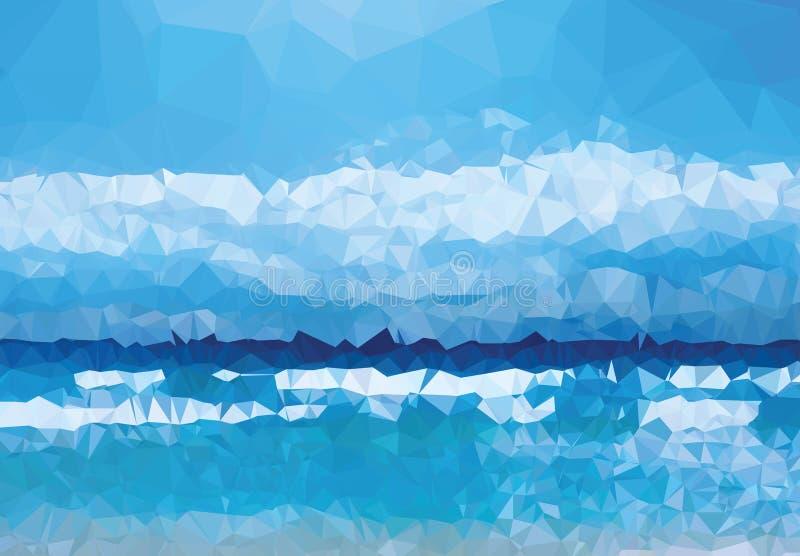Da geometria moderna do triângulo da textura do fundo sumário azul da experiência da vida ilustração do vetor