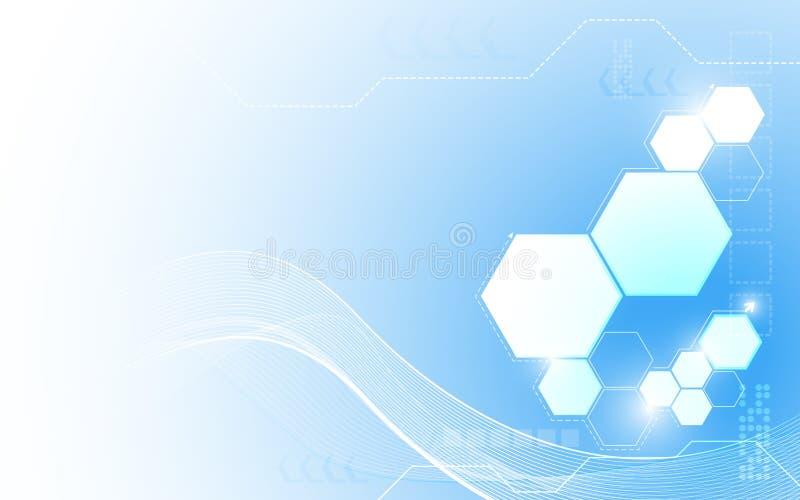 Da inovação abstrata da tecnologia do vetor fundo limpo do projeto ilustração do vetor