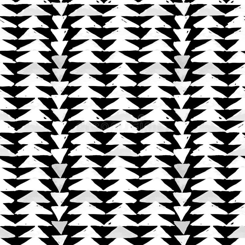 Da inspiração asteca de matéria têxtil do Navajo teste padrão sem emenda Americ nativo ilustração do vetor